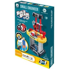Trusa de scule tip Troller, SMALL ENGINEER, bormasina functionala, 20 piese, 71 cm inaltime
